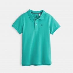 Pique cotton polo shirt -...