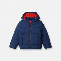 Hooded padded coat -...