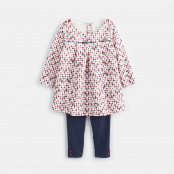 Printed knit dress and...