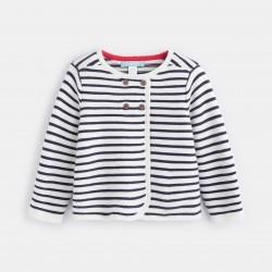 Striped knit cardigan -...