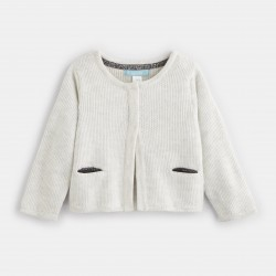 Iridescent knit cardigan -...