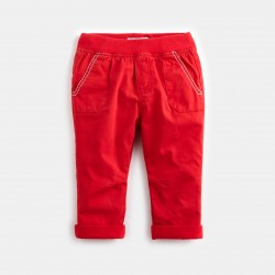 Colored twill pants - Sour...