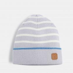 Striped knit cap - Blue...