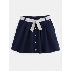 Short A-line fit skirt -...