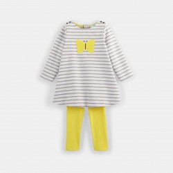 Striped knit dress and...