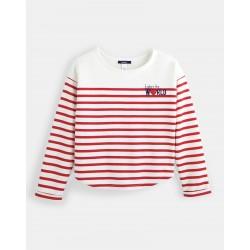 Fleece sweatshirt with...