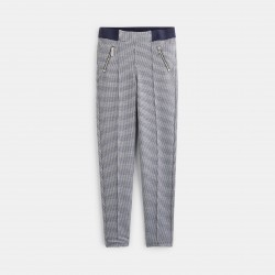 Checkered jeggings - Blue...