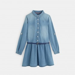 Shirt dress with sleeves -...