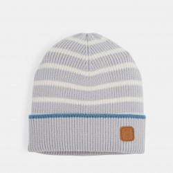 Striped knit cap - Gray Stripe