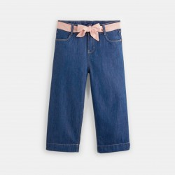 Denim cropped trousers -...