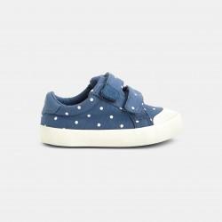Velcro canvas tennis shoes...