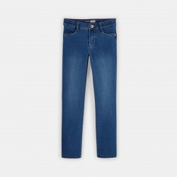Stretch straight jeans -...