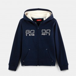 Zipped hooded sweatshirt -...