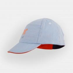 Canvas cap - Blue Stripes