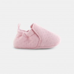 Knit booties for babies - Ροζ