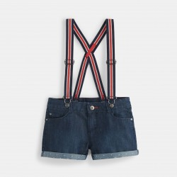 Denim shorts with...