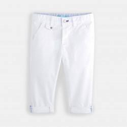 Plain-colored canvas pants...