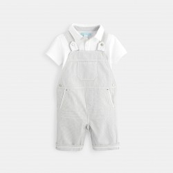 Short overalls and pique...