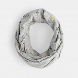 Printed jersey double snood...