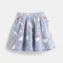 Flared skirt - Blue Stripes