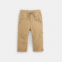 Roll-up canvas pants - String