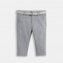 Canvas pants with belt -...