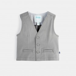 Sleeveless canvas vest -...