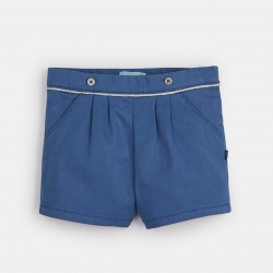 Plain-colored canvas shorts...
