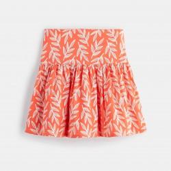 Flared skirt - Red Print