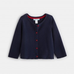 Buttoned knit cardigan -...
